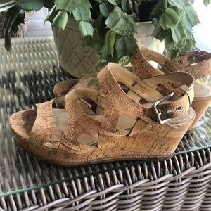 Donald Pliner size 8 cork wedges